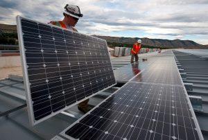 Installer of solar panels