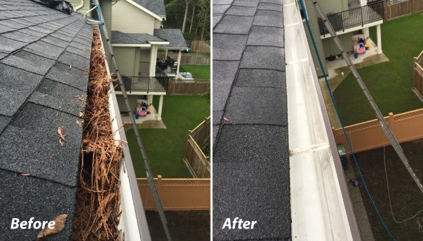 how to professionally clean your gutters and remove leaves